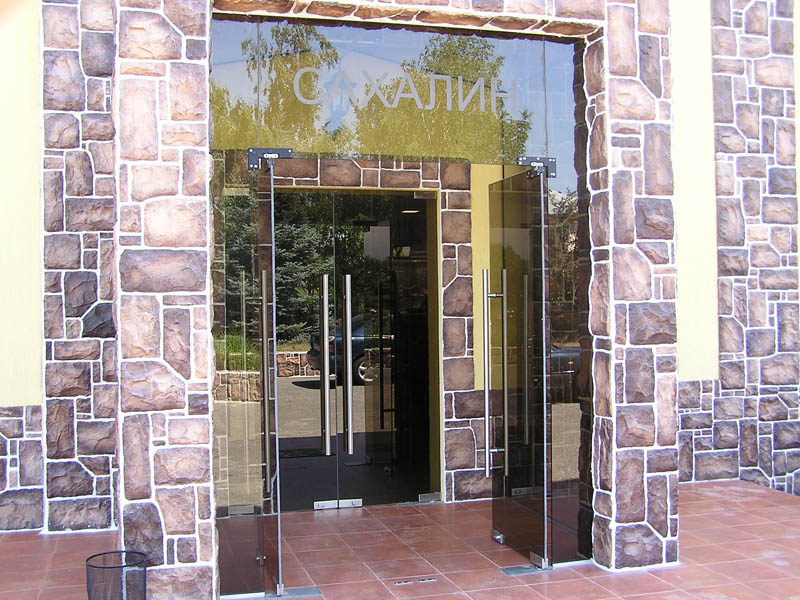 купить стеклянные двери под заказ
