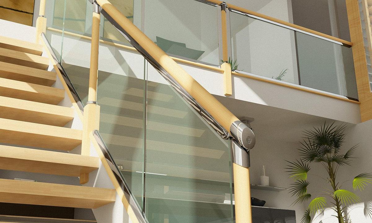 лестничные ограждения из стекла заказать