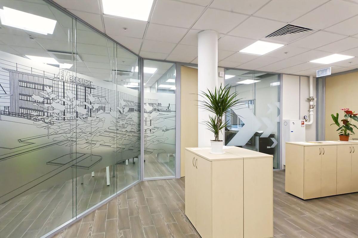 офисные перегородки стеклянные 1